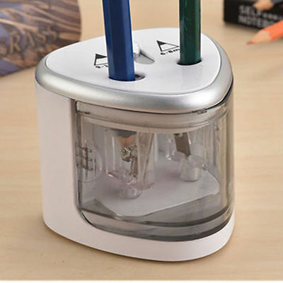 Automatic Electric Touch Switch Pencil Sharpener Office School Classroom Silver