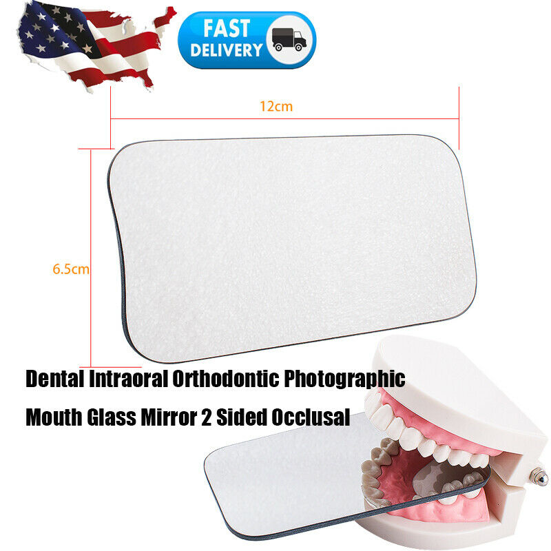 Dental Intraoral Orthodontic Photo Mouth Oral Glass Mirror 2 Sided Reflector