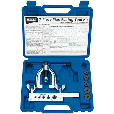 Draper 7 Piece Copper Car Classic Brake Pipe Repair Line Flaring Tool Kit 51762