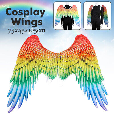 ainbow Angel Wings Party Costume Props Mardi Gras Wings Gift (Rainbow Angel Wings)