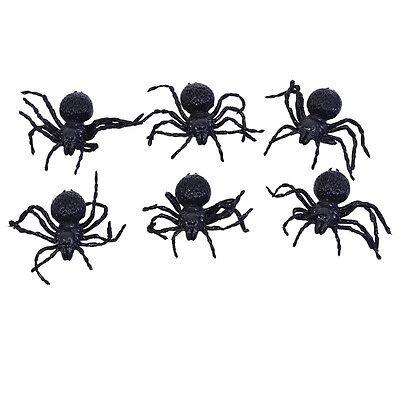 Spinnen Klein 6pcs Spinnentier Scary Spooky Kreatur Halloween Party Dekoration
