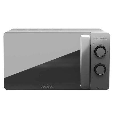 Cecotec ProClean 3060 - Microondas Plateado Mirror y con Revestimiento Ready2Cle