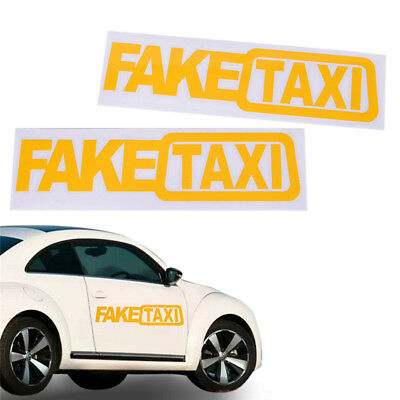 New Car Sticker FAKE TAXI For JDM Drift  Race Auto Funny Vinyl Decal Sticker G0