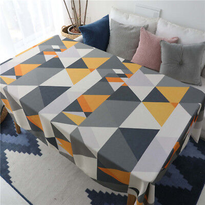 Waterproof Simple Round Rectangular Coffee Table Cloth Multi-Purpose Cover Cloth](Coffee Table Cloth)