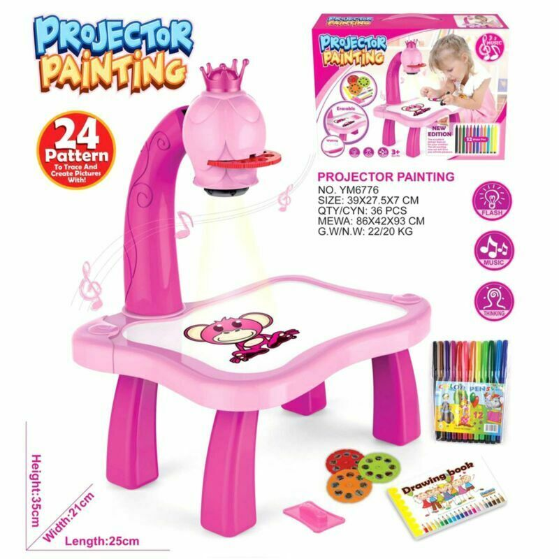 Kids Drawing Projector Table Projection Drawing Board Educational Drawing Toy