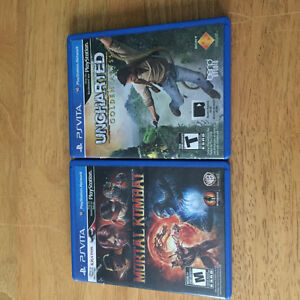 Uncharted Golden Abyss and Mortal Kombat for PS VITA St. John's Newfoundland image 1
