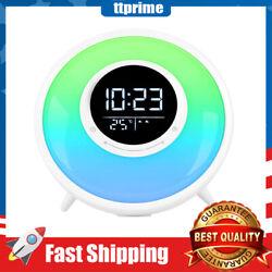 Wake Up Light Alarm Clock Sleep Timer /18 Sounds/Dual Alarm//Temperature Display