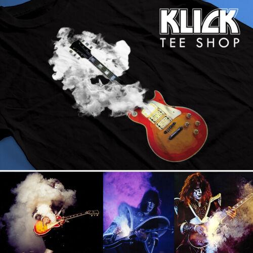 KISS band T-shirt Ace Frehley - Smoking Guitar S—5XL