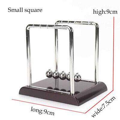 Mini Newtons Cradle Steel Balance Balls Science Pendulum Fun Desk Toy Physics