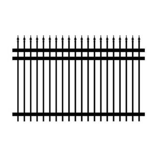 Security Fencing Black Heavy Duty Fence Panel Powder Coated