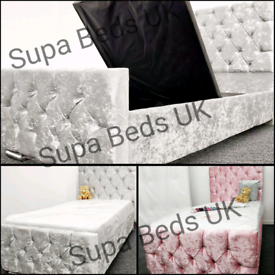 💕BED SALE. NEW STORAGE BEDS 3FT SINGLE + DIAMANTE OPTION. ANY COLOUR