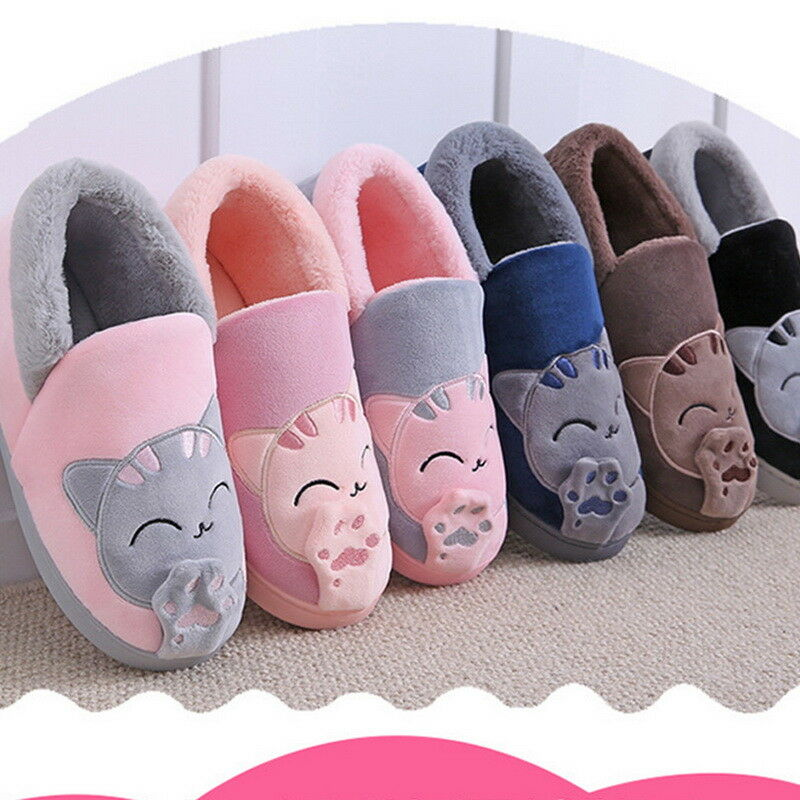 Lucky Cats Paw Cotton Unisex Slippers Sofe Warm Women Men Pug Slipper Shoes JR15
