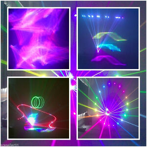 1500mW 3D RGB Full Color Stage Laser Light W/ILDA SD Card Disco