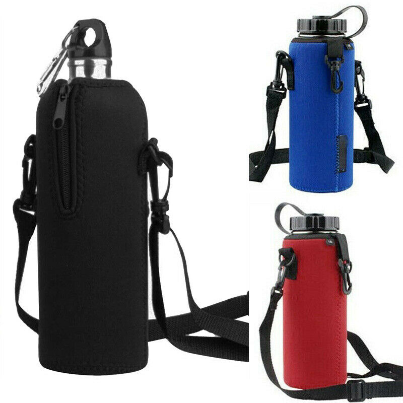 Water Bottle Bag with Handle Buckle Coffee Cup Carrier Pouch Carrier Strap