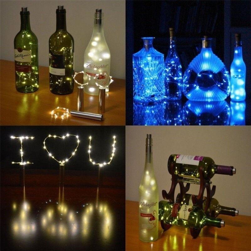 15 LED Bottle Lights Cork Shape Lights for Wine Bottle Starry String Lights Xmas