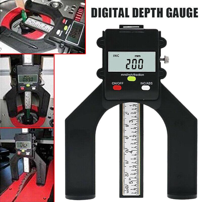 Digital LCD Depth Caliper Height Gauge Woodworking Measuring