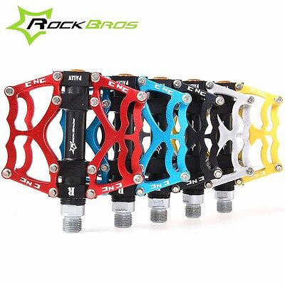 ROCKBROS Mountain Bike Pedals Aluminum Alloy  MTB Sealed Bearing Pedals