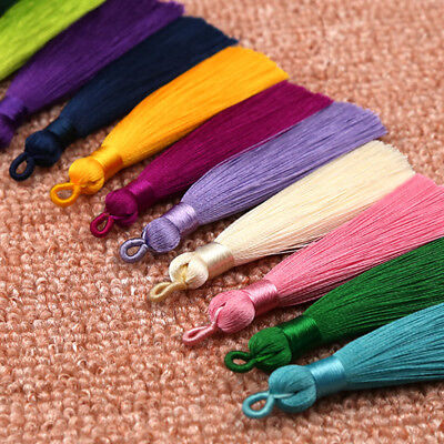 DIY For Earrings Bookmark Handmade Long Silky Tassel Jewelry Accessories 1PC