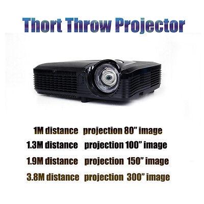 New 3D Projector Short Throw Beamer DLP Full HD 6500 lumens For Home Cinema