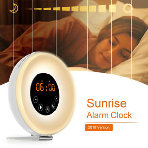Alarm Clock with Wake-up Light Sunrise Simulation and FM 2for$60