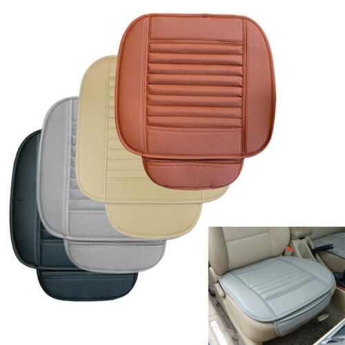 kaakaeu 1Pc//3Pcs Winter Balanced Comfort Faux Leather Flexible Car Front Rear Seat Cover Cushion with Pocket for Auto 4 Seasons Universal Seat Protective Pad Mat Accessory Beige 3Pcs//Set