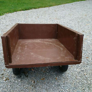 Utility Dump Trailer for Lawn Tractor $50