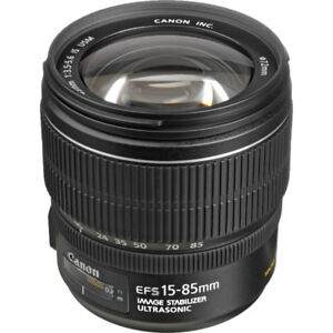 Canon EF-S 15-85mm 3.5-5.6 Lens plus Sony E Mount Adapter