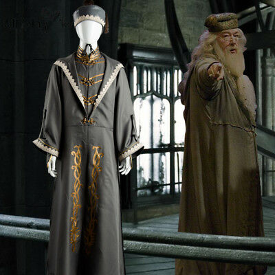 Halloween Harry Potter Albus Dumbledore Costume wizard Fancy Ball Cosplay - Dumbledore Halloween Costume