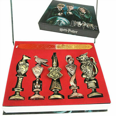 New Harry Potter Hogwarts School Badge Vintage Wax Seal Stamp Set Collection Gif comprar usado  Enviando para Brazil