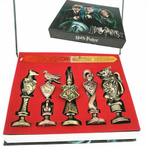 New Harry Potter Hogwarts School Badge Vintage Wax Seal Stamp Set Collection Gif