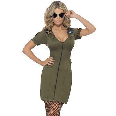 Gun Fancy Dress Costume Sexy Movie Uniform Hen Theme 1980's  (Top Gun Charlie Kostüm)