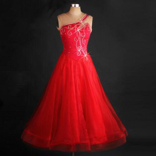Ballroom Dance Dress Modern Waltz Standard Competition Rhinestone Dress