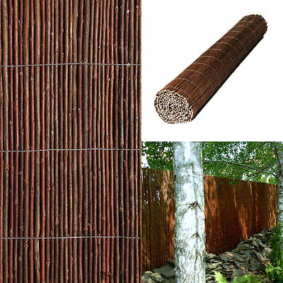 PREMIUM AIR DRIED WILLOW Natural Garden Screening Roll Fence Panel 1.8m H x 4m L