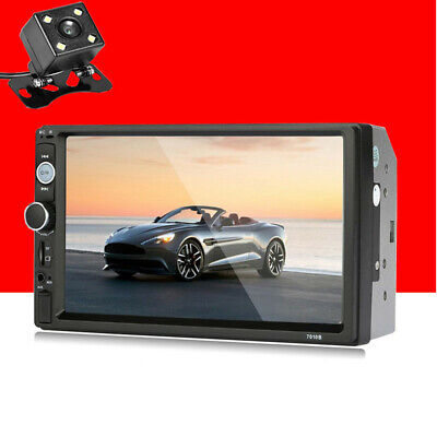 """Bluetooth Car Stereo Radio 2 DIN 7"""" HD MP5 FM Player Touch Screen + Rear Camera for sale  Shipping to Canada"""
