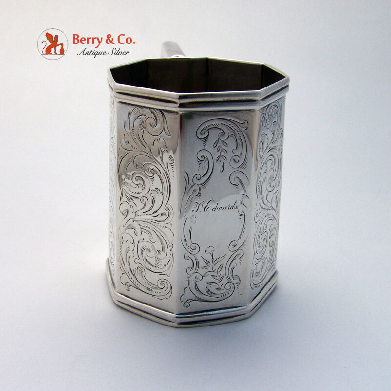 Coin Silver Octagonal Cup Eoff and Phyfe 1845