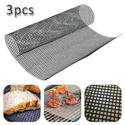 3pc Mintiml Grill Mat BBQ Grill Mesh Mat Non-Stick Teflon Cooking Sheet Liner UK