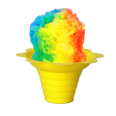 Small Shaved Ice Sno Cone Flower Cups 4 Oz 250 Count Yellow