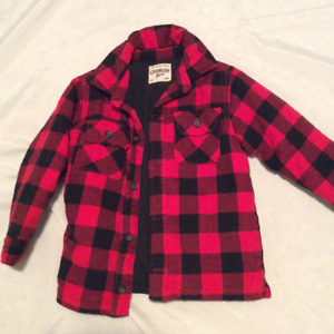 Size 5 Oshkosh quilted plaid jacket
