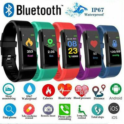 Sport Health Waterproof Fitness Smart Watch Activity Tracker Wrist Band Bracelet (Health Fitness)