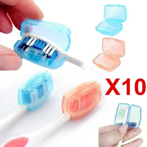 5Pcs Travel Toothbrush Head Cover Case Cap Hike Camping Brush Cleaner Protectors