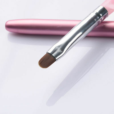 No.6 Pro Nail Art UV Gel Painting Brush Pen With Cap Pink Salon Manicure Tool  for sale  China