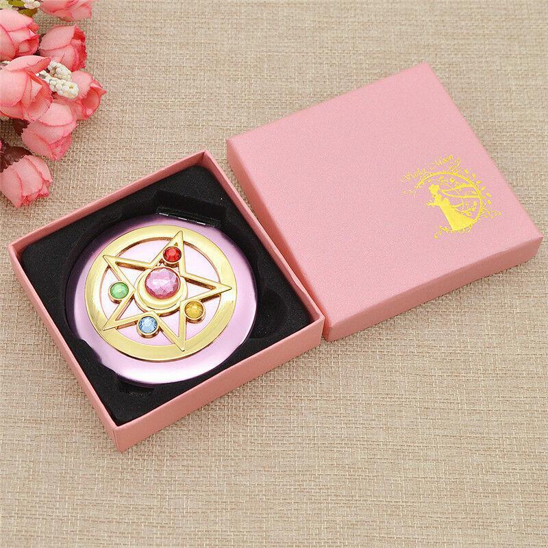 Mini Anime Sailor Moon Make up Mirror Cosmetic Portable Lady Womens Beauty USA
