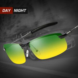 Day Night Vision Men's Polarized Sunglasses Driving Pilot Sports Sun Glasses