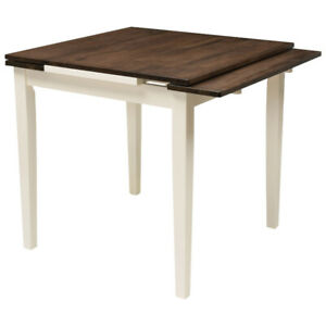 Dillon Contemporary 4-Seating Square Dining Table - Brown/Cream