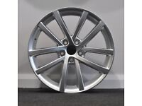 "18"" Vancouver Style Alloys & Tyres. Suit Audi A3,Volkswagen Caddy,Golf,Jetta,Passat,Seat Leon 5x112"