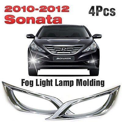 Foglight Lamp Reflecter Chrome Cover Molding 4P for 2011 - 2014 HYUNDAI SONATA