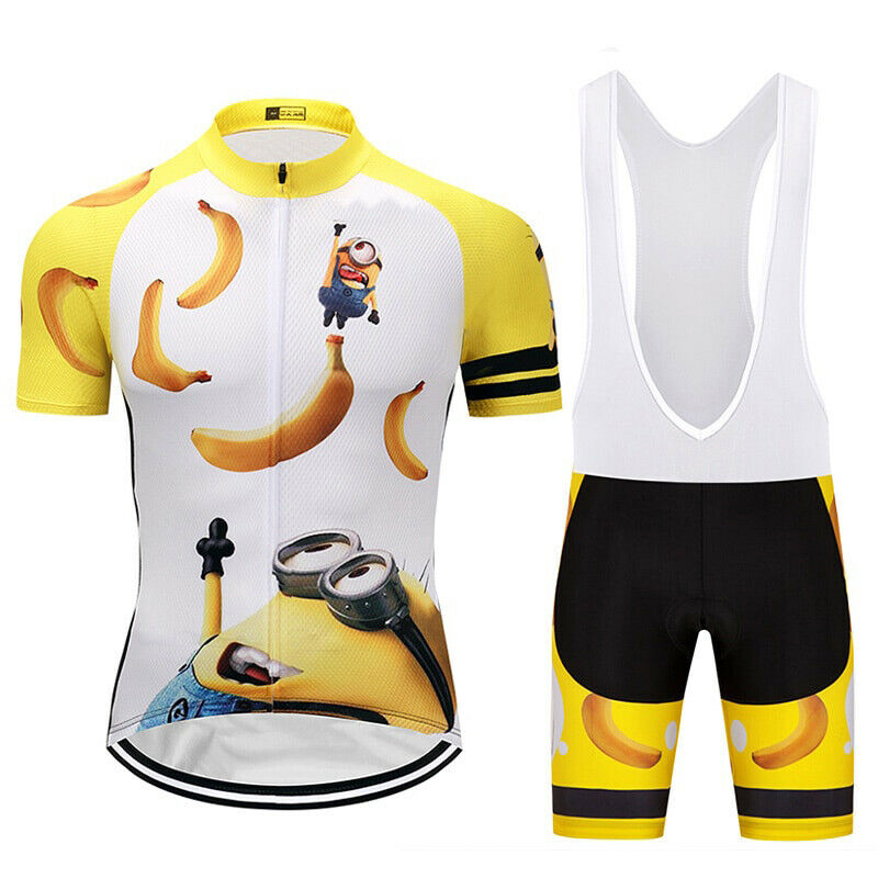 Minions Funny Cycling Jersey Bib Short Set (New with tags - 29 USD)