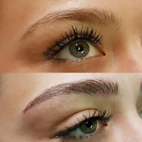 Microblading with certified microblading artist