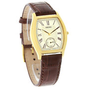 Seiko Men's Brown Leather Watch
