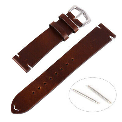Fashion Genuine Leather Wrist watch Band Watch Strap Replacement 18-22mm Vintage